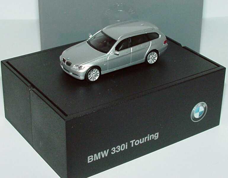 Foto 1:87 BMW 3er touring (E91) titansilber-met. Werbemodell herpa 80410394354