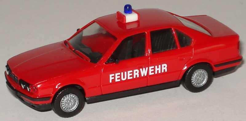 Foto 1:87 BMW 5er 525i E34 Feuerwehr rot - herpa 4647