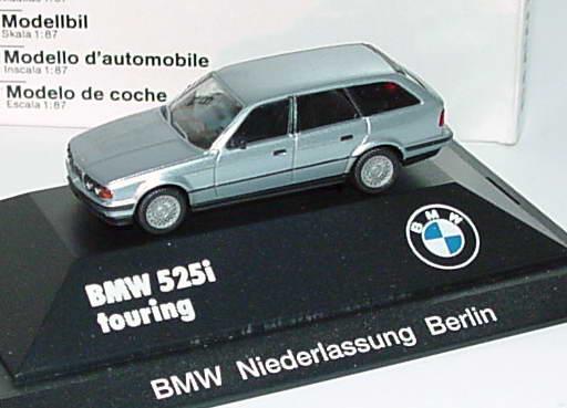 1 87 bmw 525i touring silber met bmw niederlassung berlin werbemodell herpa. Black Bedroom Furniture Sets. Home Design Ideas