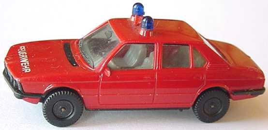 1:87 BMW 528i (E12) Feuerwehr rot (Lautsprecher rot, IA grau)
