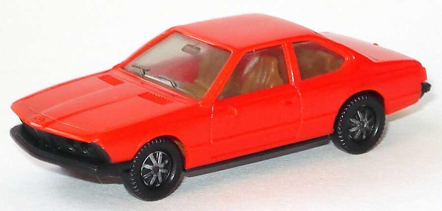 1:87 BMW 633 CSi (E24) orangerot, Bodenplatte schwarz