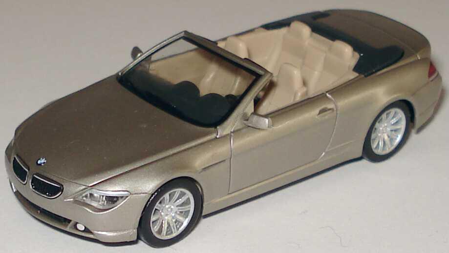 Foto 1:87 BMW 6er Cabrio E64 mineralsilber-met. - herpa 80410153429