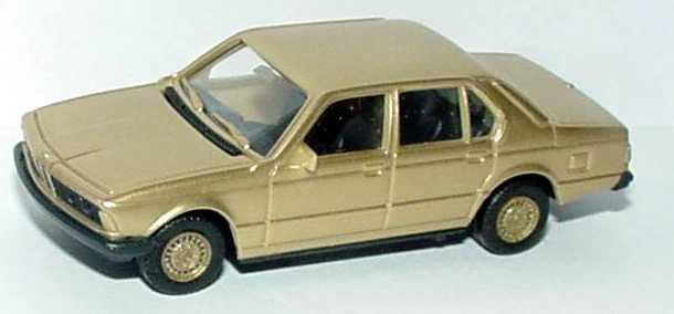 Foto 1:87 BMW 7er 745i E23 gold-met. Felgen gold - herpa 166096-81