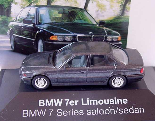 Foto 1:87 BMW 7er 750i Facelift E38 LCI schiefergrau-met. - Werbemodell - herpa 80419423175