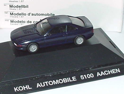 1 87 bmw 850i dunkelblau met kohl automobile aachen. Black Bedroom Furniture Sets. Home Design Ideas