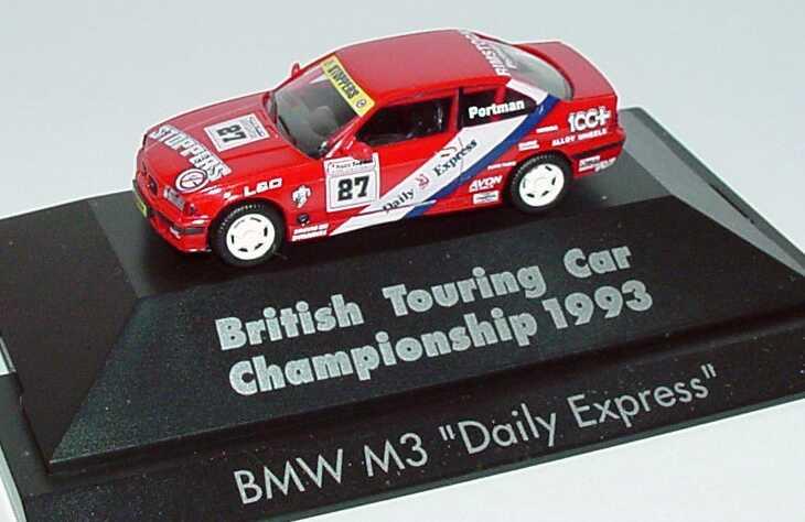 """1:87 BMW M3 Coupé (E36) BTCC 1993 """"Daily Express"""" Nr.27, Portman (oV)"""