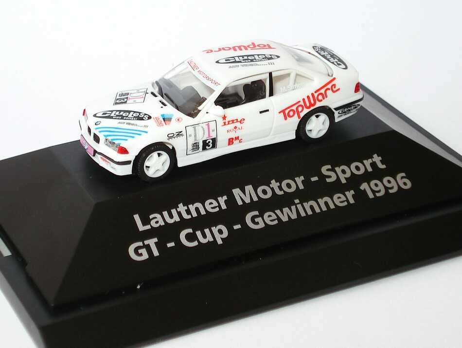 Foto 1:87 BMW M3 Coupé (E36) GT-Cup ´96 Lautner Motorsport, Topware Nr.3, Simon (GT-Cup-Gewinner 1996) herpa 226868