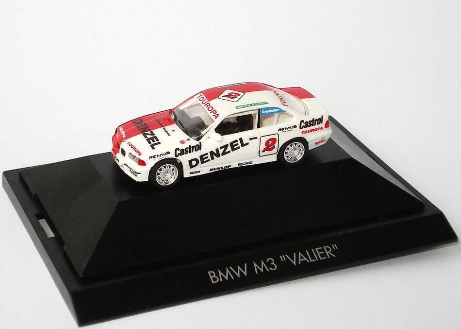"""1:87 BMW M3 Coupé (E36) """"Valier, Denzel"""" Nr.2, Grünfelder"""