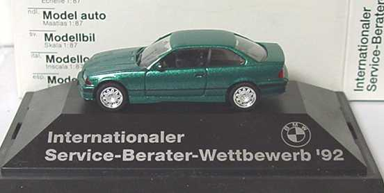 Foto 1:87 BMW M3 Coupé (E36) grün-met. Internationaler Service-Berater-Wettbewerb 92 herpa 82229417824