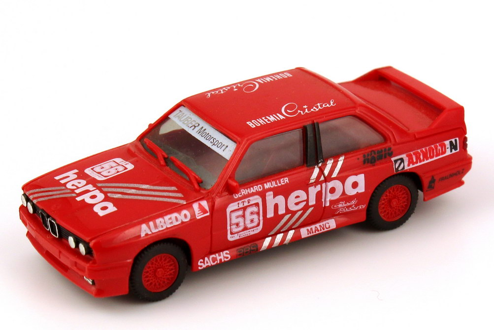 """1:87 BMW M3 (E30) DTM 1988 """"herpa, Tauber Motorsport"""" Nr.56, Gerhard Müller (oV)"""