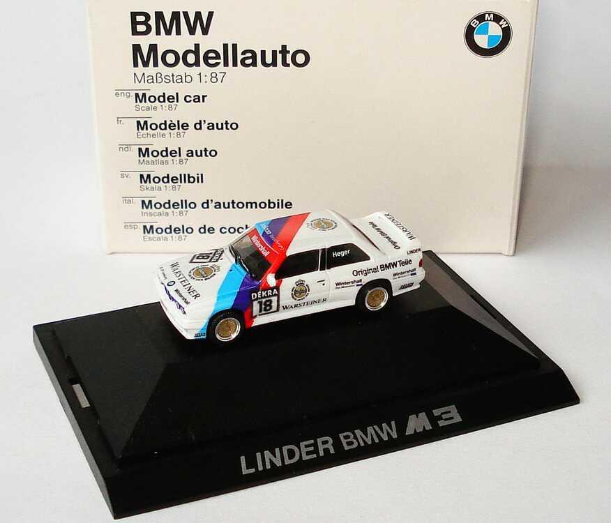 """1:87 BMW M3 (E30) DTM 1989 """"Linder"""" Nr.18, Heger (BMW)"""