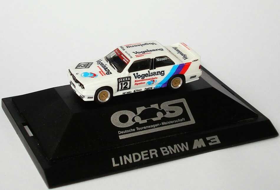 """1:87 BMW M3 (E30) DTM 1990 """"Linder, Vogelsang"""" Nr.12, Nissen (oV)"""
