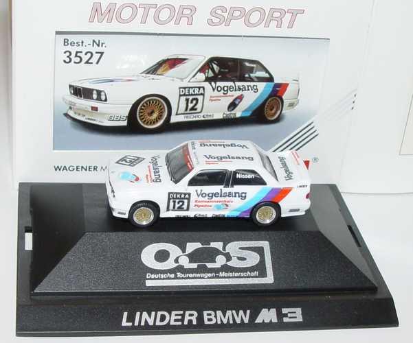 """1:87 BMW M3 (E30) DTM 1990 """"Linder, Vogelsang"""" Nr.12, Nissen"""
