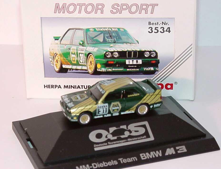 """1:87 BMW M3 (E30) DTM 1991 """"MM, Diebels Alt"""" Nr.31, Danner"""