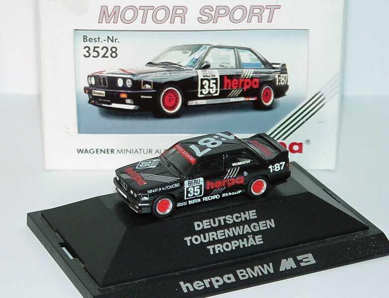 """1:87 BMW M3 (E30) DTT 1990 """"herpa"""" Nr.35, Neumeister"""