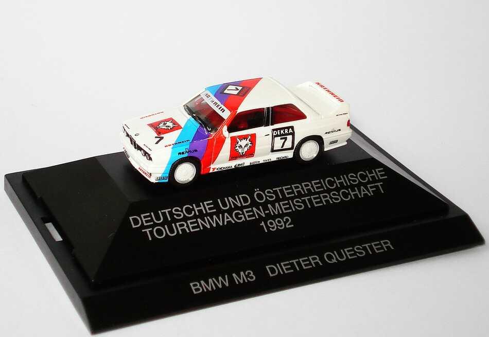 Foto 1:87 BMW M3 E30 DTM + ÖTM 1992 Remus Kathrein Nr.7 Dieter Quester - herpa 035743