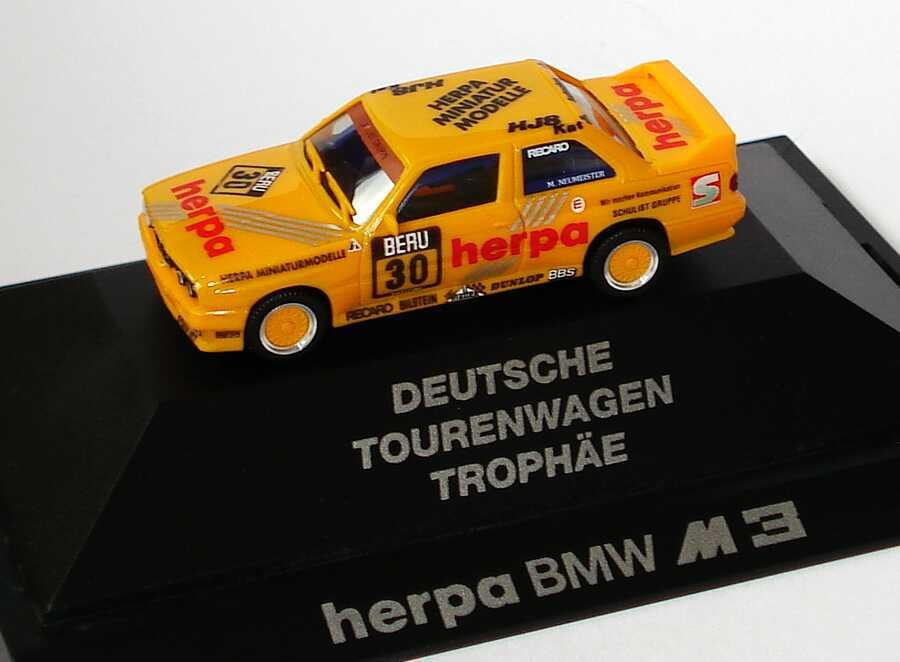 "1:87 BMW M3 (E30) ""herpa"" Nr.30, Neumeister (oV)"