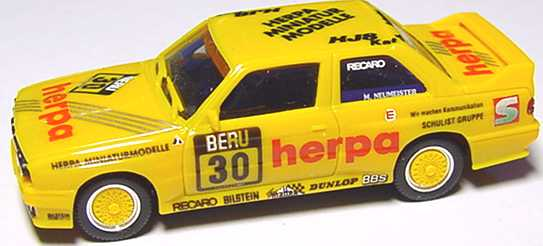 Foto 1:87 BMW M3 E30 DTT 1991 herpa Nr.30 Neumeister ohne PC-Box - herpa 3530