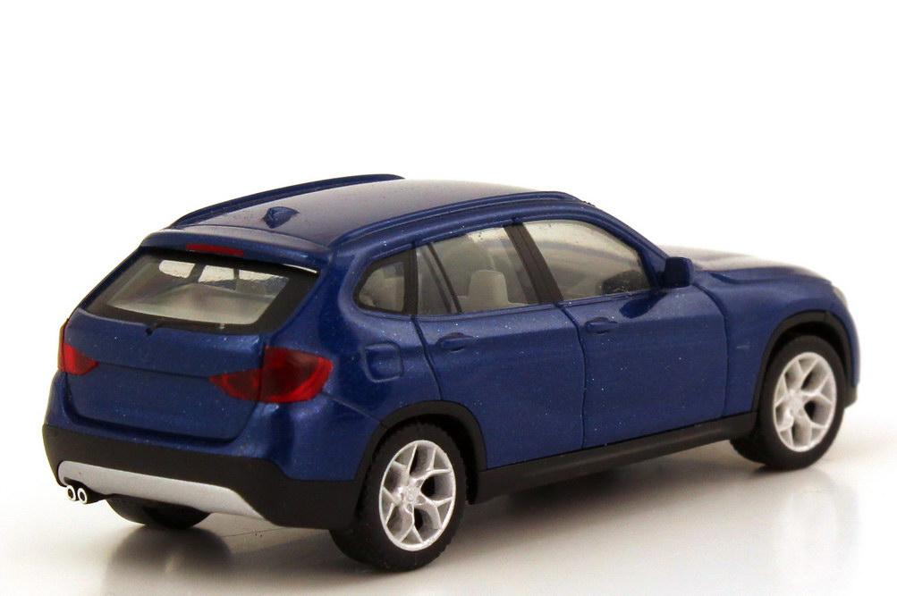 Foto 1:87 BMW X1 (E84) blau-met. herpa 034340