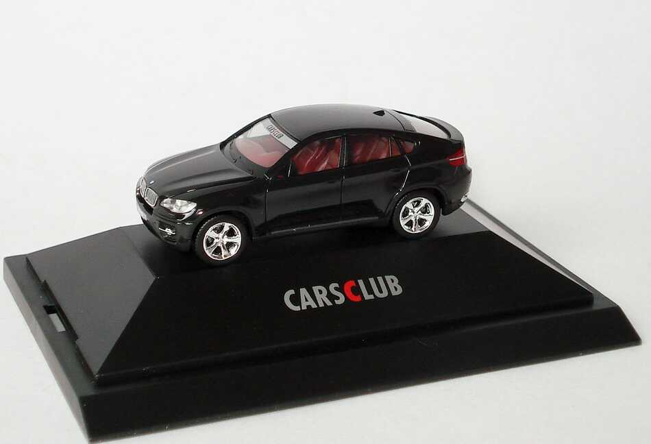 1 87 bmw x6 xdrive 50i schwarz carsclub hcc modell 2009 herpa 194525. Black Bedroom Furniture Sets. Home Design Ideas