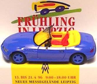Foto 1:87 BMW Z3 Facelift blau Auto Mobil International 1996 Leipzig herpa 222440