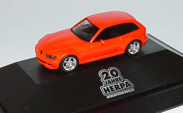 1 87 Bmw Z3 M Coup 233 Orangerot 20 Jahre Herpa Herpa 187336
