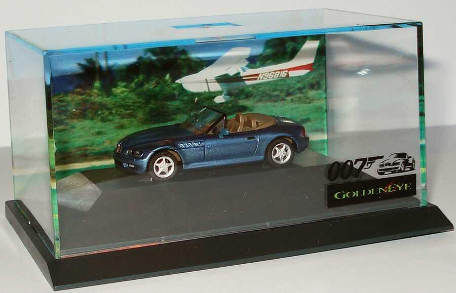 Bmw Z3 Blau Met James Bond 007 Golden Eye Werbemodell Herpa 80419421163 Bild 3