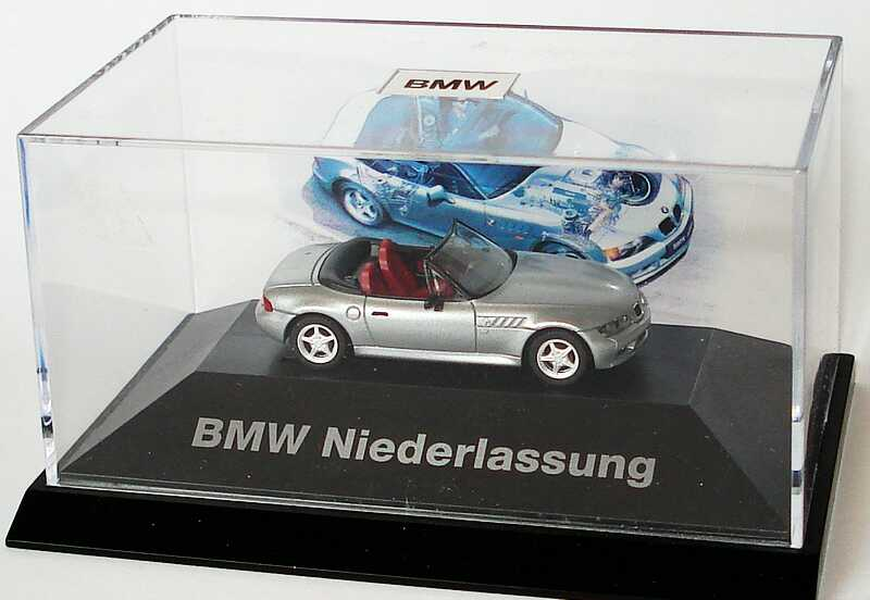 1 87 bmw z3 silber met bmw niederlassung herpa. Black Bedroom Furniture Sets. Home Design Ideas