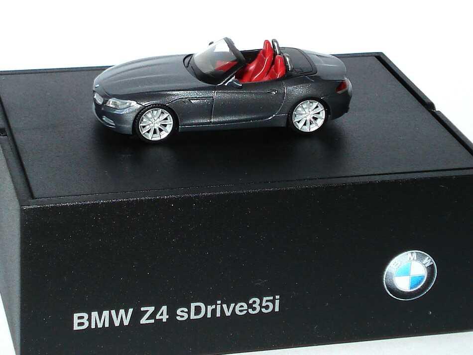 Foto 1:87 BMW Z4 sDrive35i E89 spacegrau-met. - Werbemodell - herpa 80412147091
