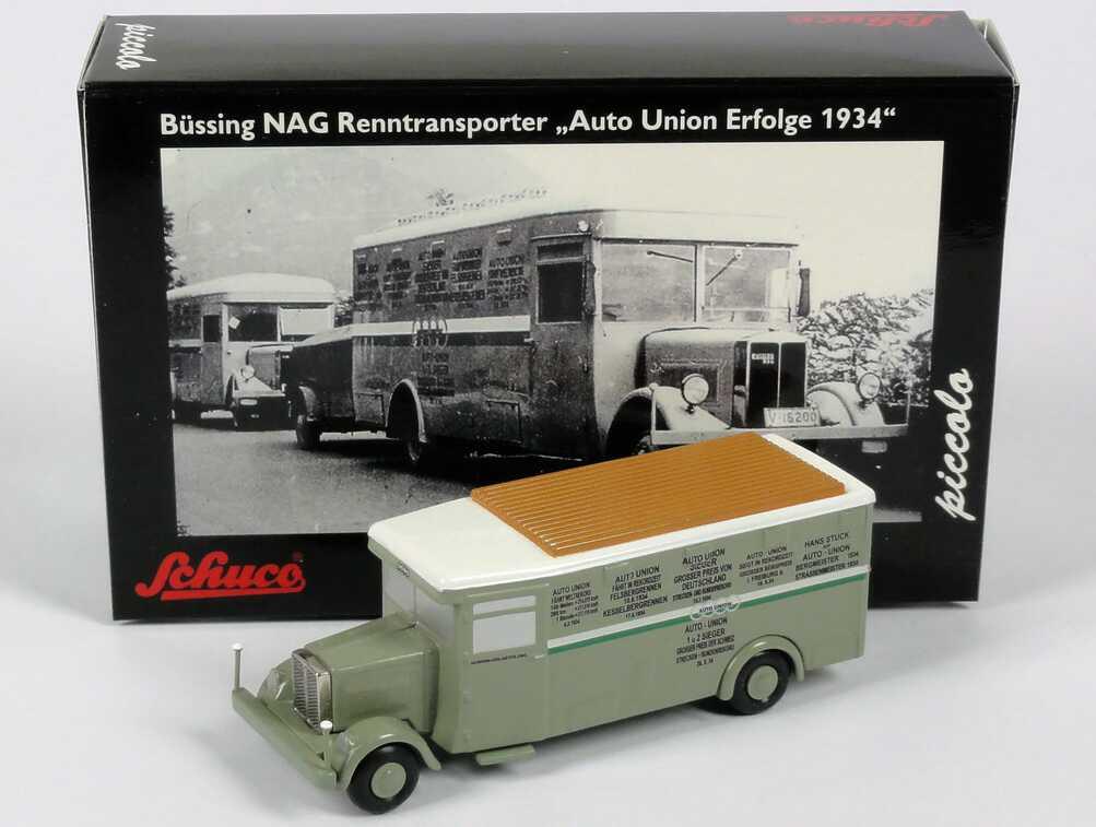 1 87 b ssing nag renntransporter auto union erfolge 1934 schuco piccolo 1624. Black Bedroom Furniture Sets. Home Design Ideas