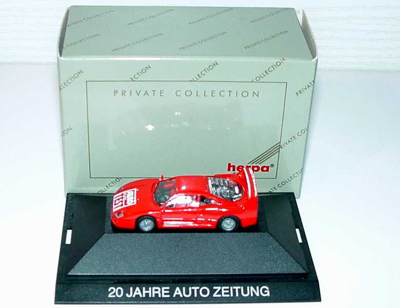 ferrari f40 rot 20 jahre auto zeitung herpa bild 8. Black Bedroom Furniture Sets. Home Design Ideas