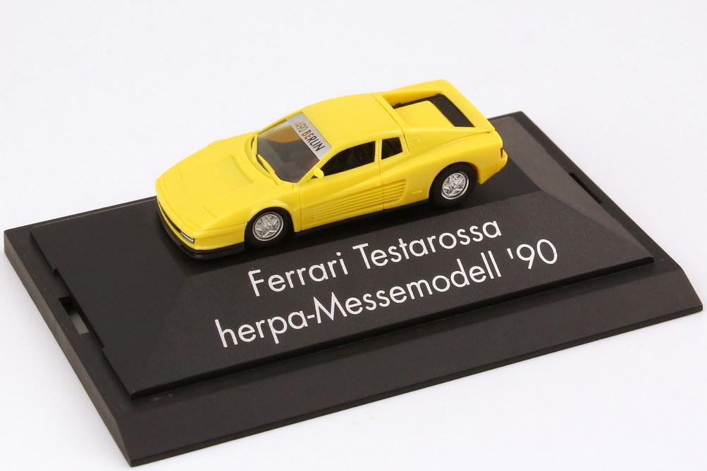 """1:87 Ferrari Testarossa hellgelb """"AAA 90 Berlin"""" (oV)"""