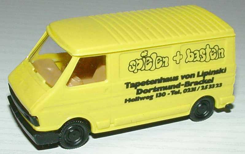 """1:87 Fiat 242 Kasten """"Spielen + Basteln, Tapetenhaus von Lipinski, Dortmund-Brackel"""""""