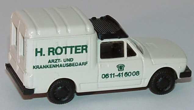 Foto 1:87 Fiat Fiorino H. Rotter Arzt- und Krankenhausbedarf, Frankfurt Praliné