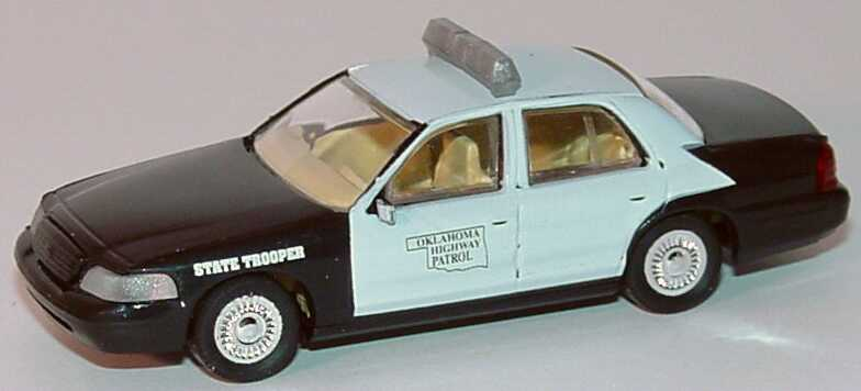 Foto 1:87 Ford Crown Victoria 1999 Oklahoma Highway Patrol, State Trooper Cop Car Collection