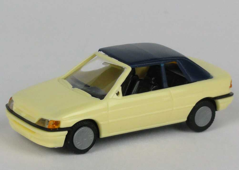1 87 ford escort cabrio geschlossen bla gelb pralin 5706. Black Bedroom Furniture Sets. Home Design Ideas