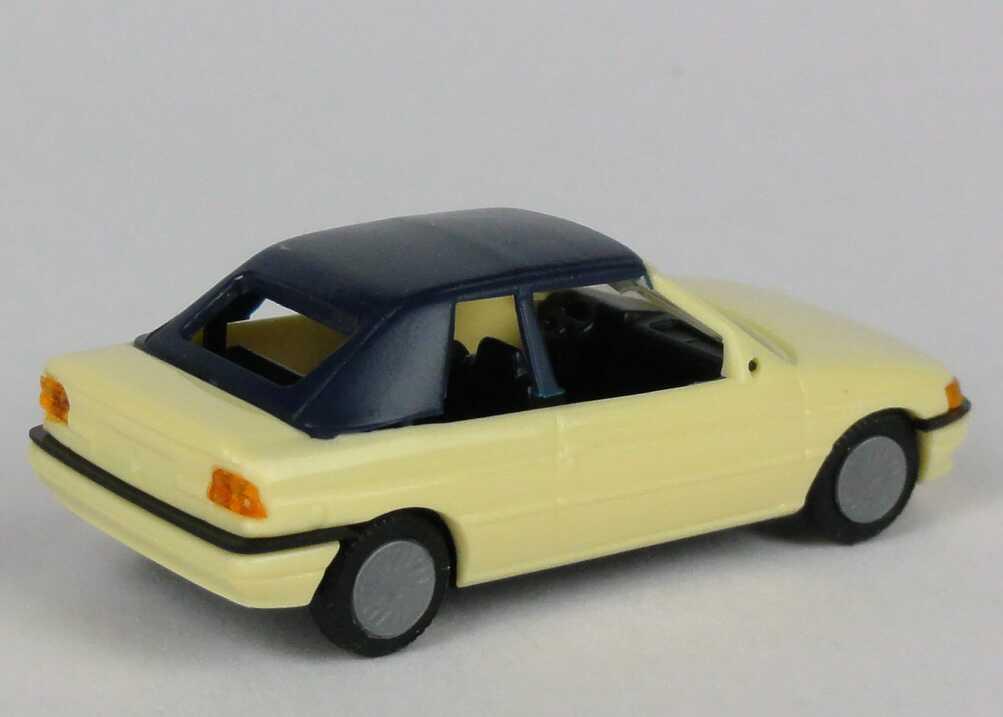 ford escort cabrio gelb: