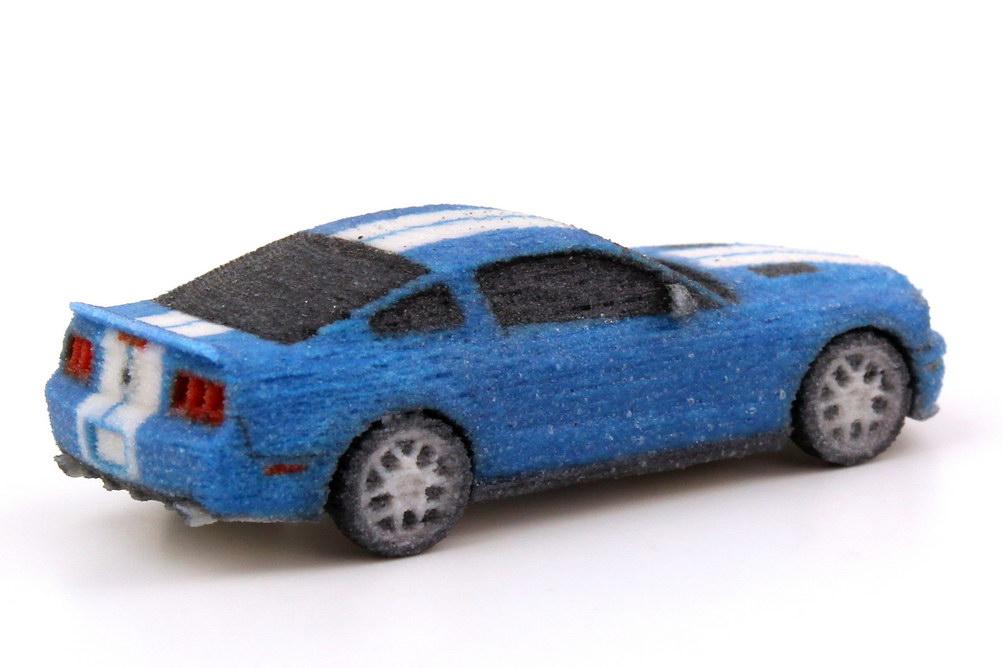 Ford Mustang Gt 500 2012 Blau Wei 223 E Racing Stripes 3d