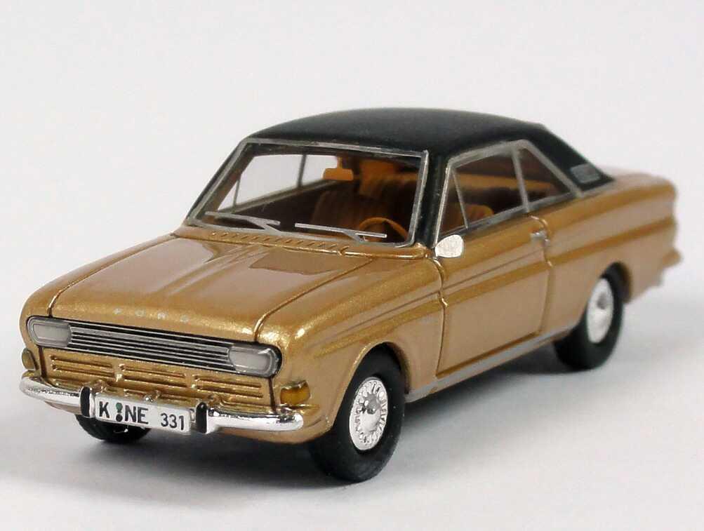 1 87 ford taunus coupe p6 golden black roof neo scale models 87331 ebay. Black Bedroom Furniture Sets. Home Design Ideas