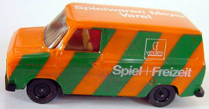 Foto 1:87 Ford Transit MK2 Kasten Spielwaren Meyer Varel Vedes - herpa