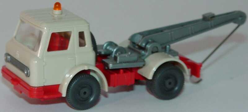 Foto 1:87 International Harvester CargoStar 2a Abschleppwagen hellgrau/rot (ohne Gummiband) Wiking 631