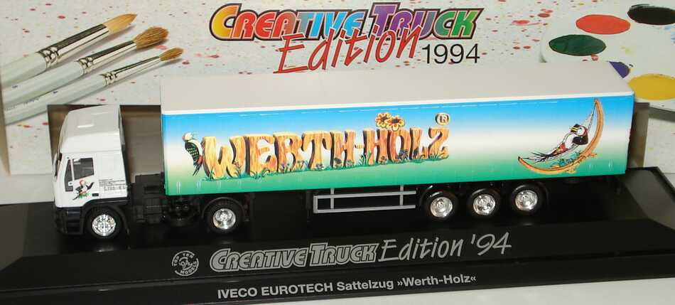 "1:87 Iveco EuroTech Hochdach GpSzg 2/3 ""Werth-Holz"" (Creative Truck Edition 1994)"