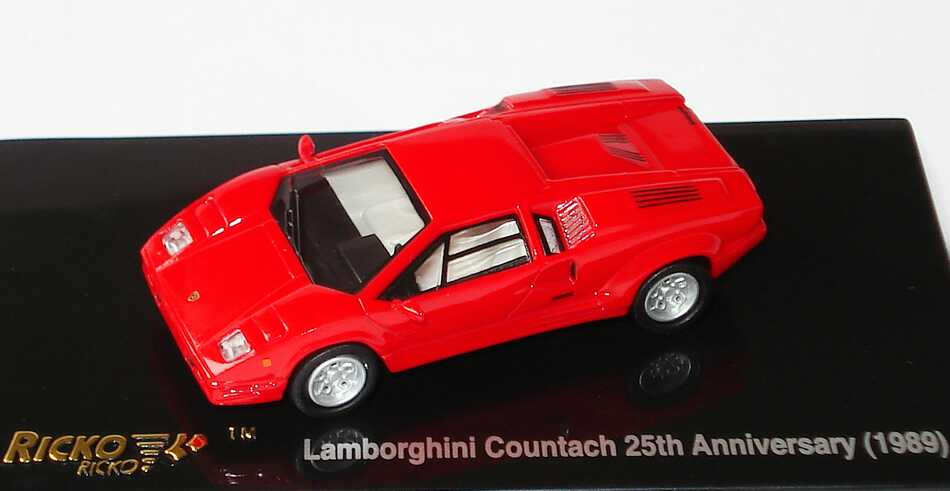 1 87 lamborghini countach 25th anniversary rot ricko 38841. Black Bedroom Furniture Sets. Home Design Ideas