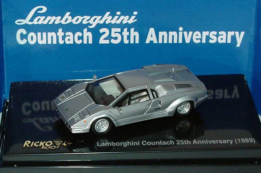 1 87 lamborghini countach 25th anniversary silber met ricko 38841. Black Bedroom Furniture Sets. Home Design Ideas