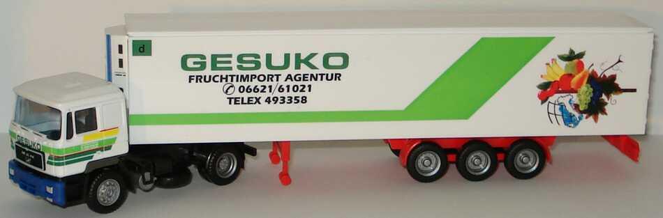 """1:87 MAN F90 KükoSzg 2/3 """"Gesuko Fruchtimport Agentur"""""""