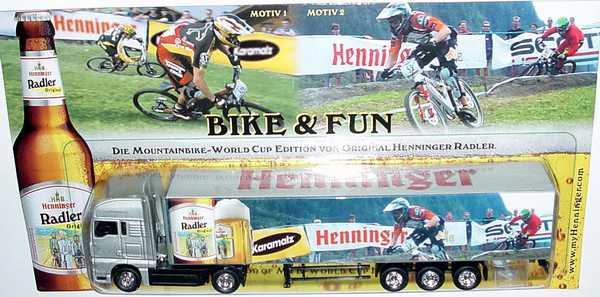 "1:87 MAN TG-A XXL Fv Cv KoSzg 2/3 ""Henninger Radler, Bike & Fun"" (Motiv 2)"