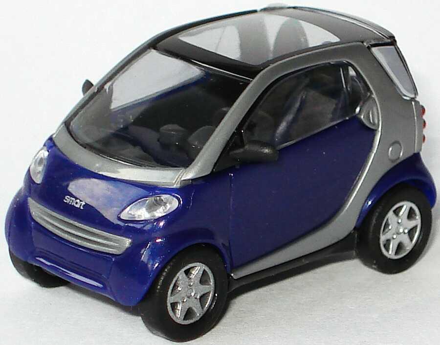 Foto 1:87 MCC Smart City-Coupé C450 true-blue-met. silbermet. - Busch