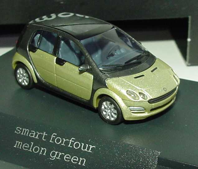 1 87 smart forfour w454 melongreen gr n green dealer edition oem busch ebay. Black Bedroom Furniture Sets. Home Design Ideas
