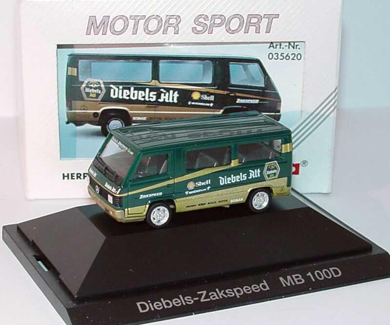 """1:87 Mercedes-Benz 100D Bus """"Diebels Alt Zakspeed"""""""