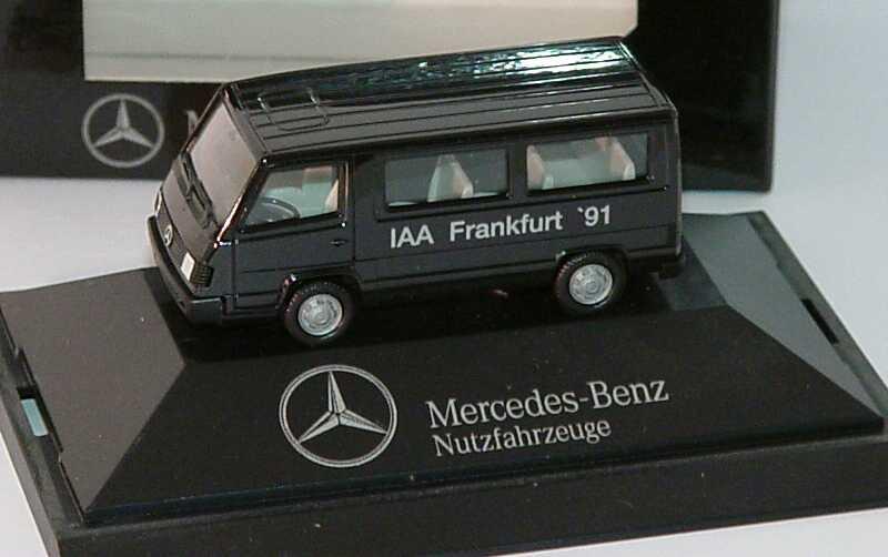 """1:87 Mercedes-Benz 100D II Bus schwarz """"IAA Frankfurt ´91"""" (MB)"""